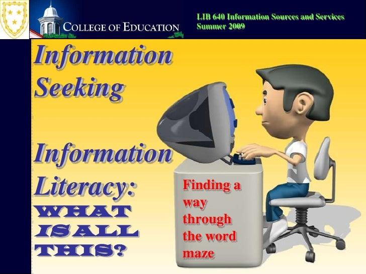 Information Seeking--2007 version