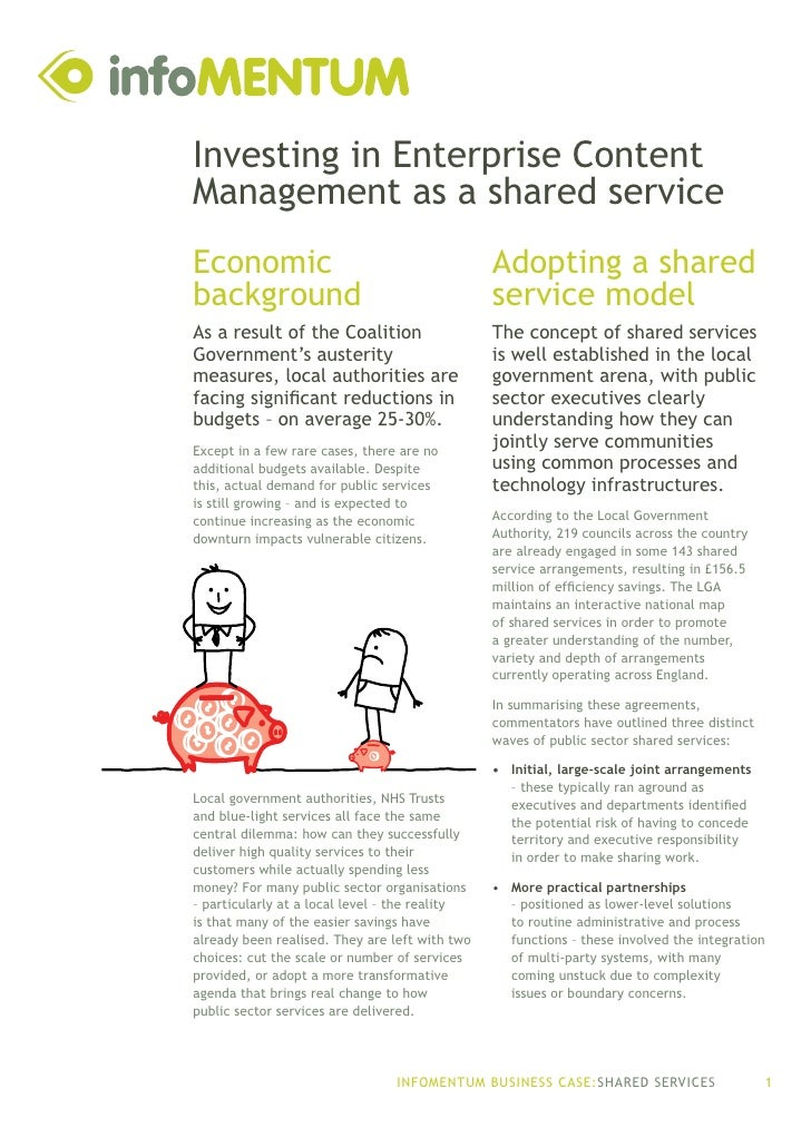 infoMENTUM business case for shared services