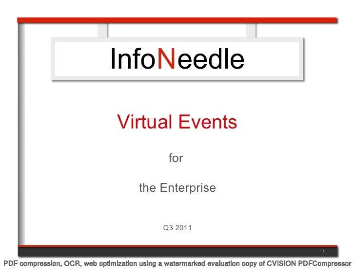 Virtual Events                                              for                                      the Enterprise       ...