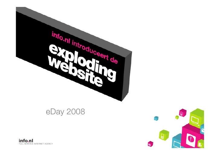 Model van de Exploding Website