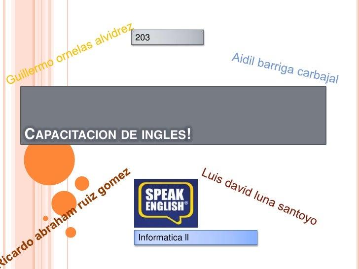 informatica ingles: