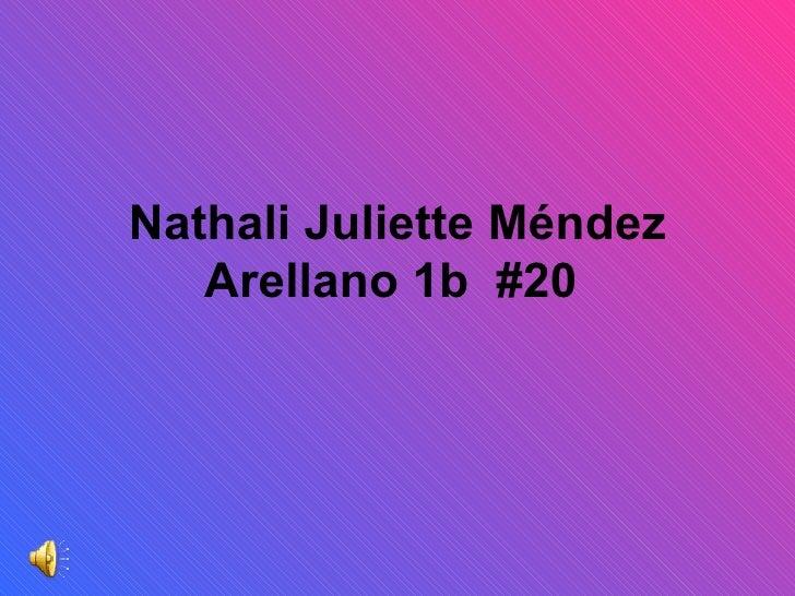 Nathali Juliette Méndez Arellano 1b  #20