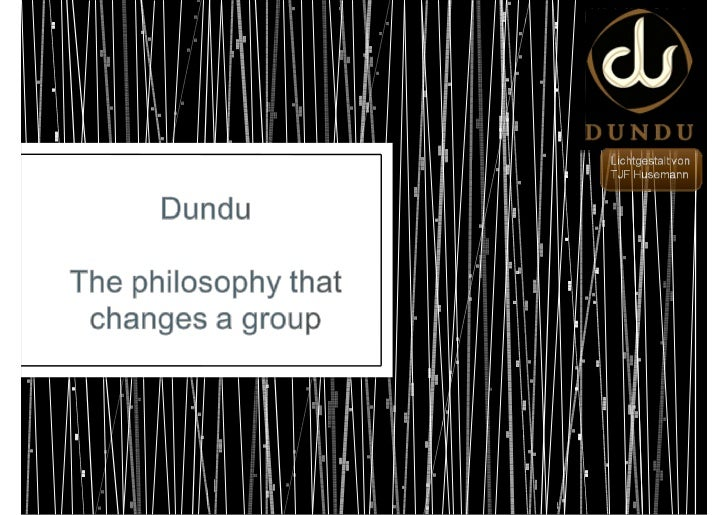 Dundu for Team-Building - The philosophy that changes a group