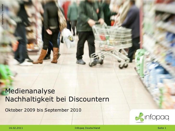 istockphoto. / assalve                         Medienanalyse                         Nachhaltigkeit bei Discountern       ...