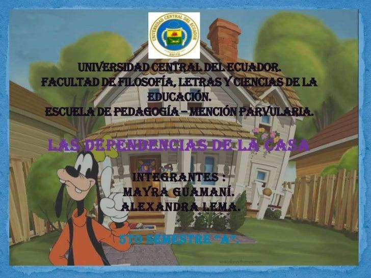 UNIVERSIDAD CENTRAL DEL ECUADOR.FACULTAD DE FILOSOFÍA, LETRAS Y CIENCIAS DE LA                 EDUCACIÓN. ESCUELA DE PEDAG...
