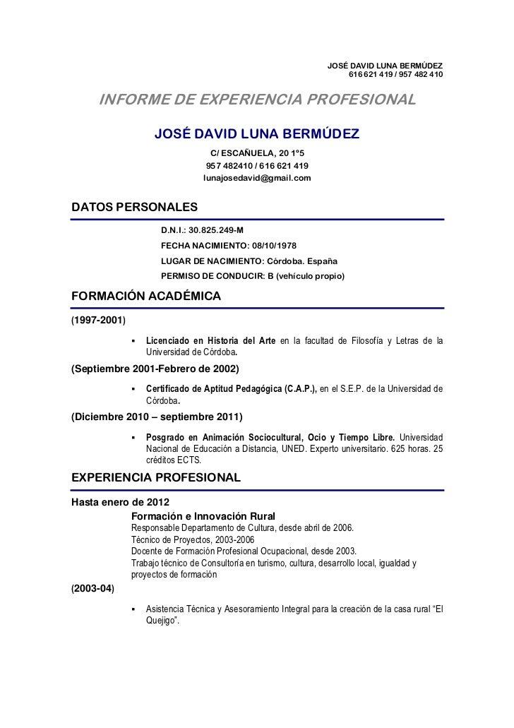 Info prof j david luna feb 2012