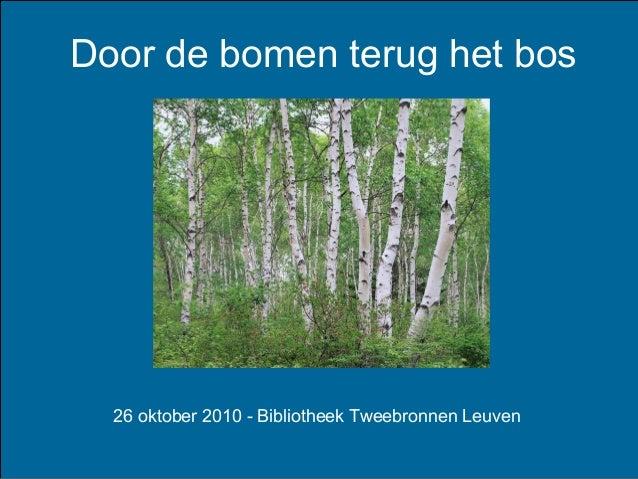 Door de bomen terug het bos 26 oktober 2010 - Bibliotheek Tweebronnen Leuven
