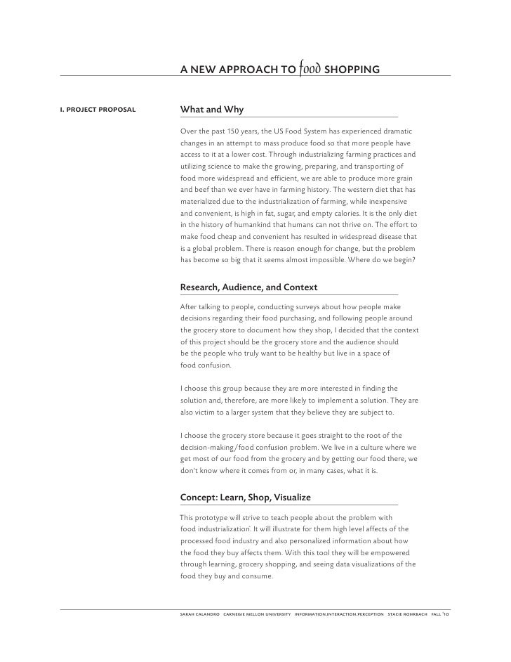 A NEW APPROACH TO food SHOPPINGi. project proposal   What and Why                      Over the past 150 years, the US Foo...