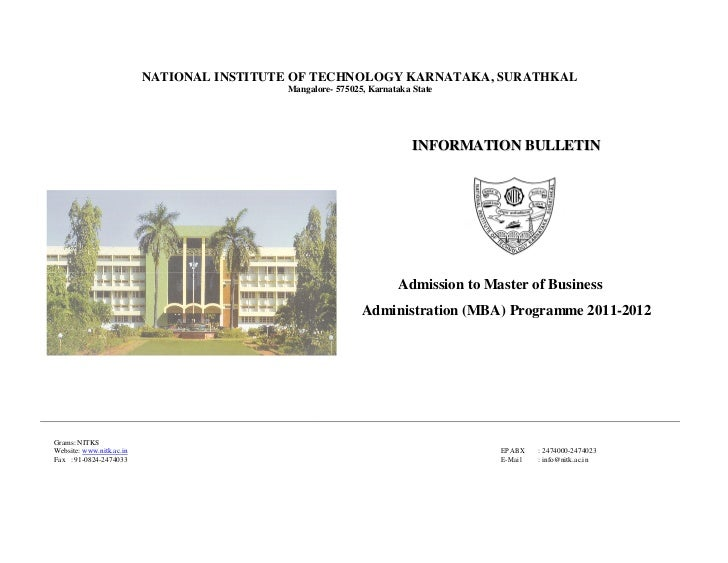 NATIONAL INSTITUTE OF TECHNOLOGY KARNATAKA, SURATHKAL                                           Mangalore- 575025, Karnata...