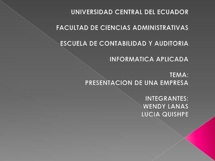 Infor Presentacion