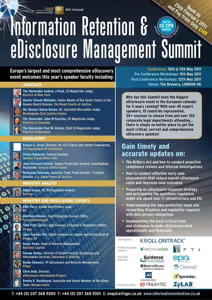 Information Retention & eDisclosure Summit 2011