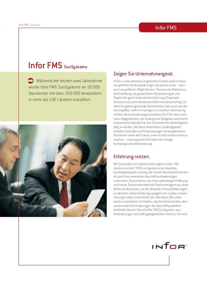 Infor FMS SunSystems Enterprise - Software für Finanzmanagement