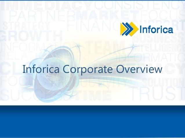 Inforica Corporate Overview