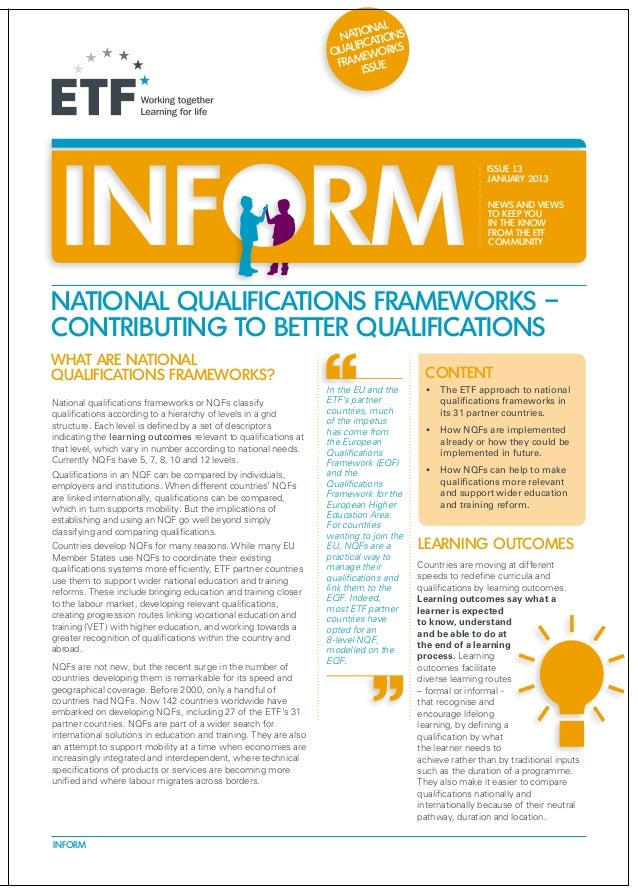Inform   policy briefing - national qualifications frameworks
