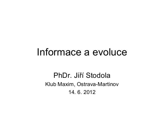 Informace a evoluce