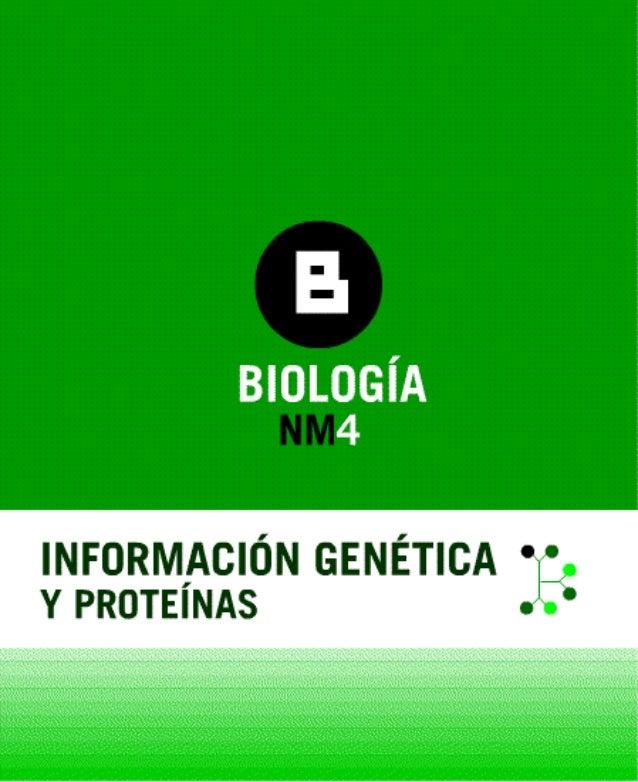 Información genetica y proteinas