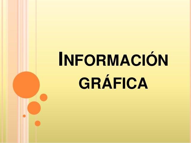 INFORMACIÓN  GRÁFICA