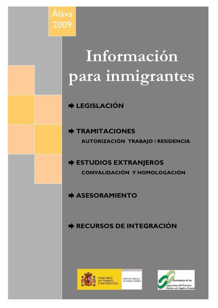 Álava      2009 FORMACIÓN PARA EL EMPLEO EN ÁLAVA              BOLETÍN INFORMATIVO (Febrero 2009)                  Informa...