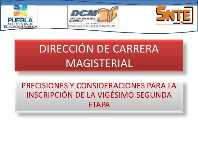 Informacion  carrera magisterial 2012 2013