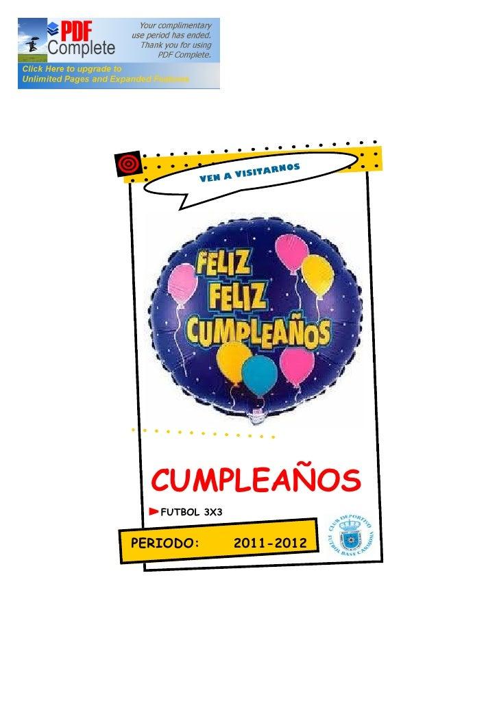 Informacion de cumpleaños