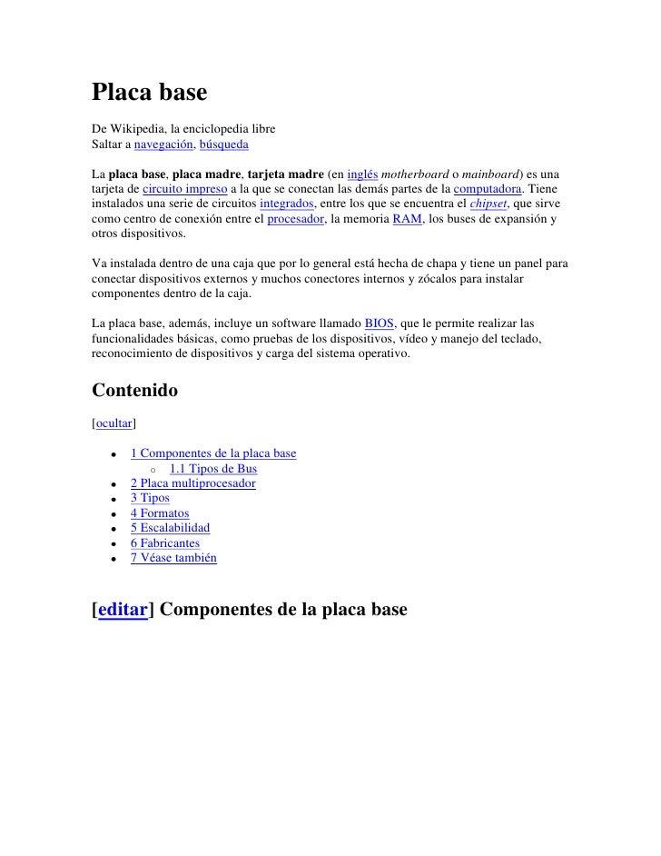 Informacion de pagina web