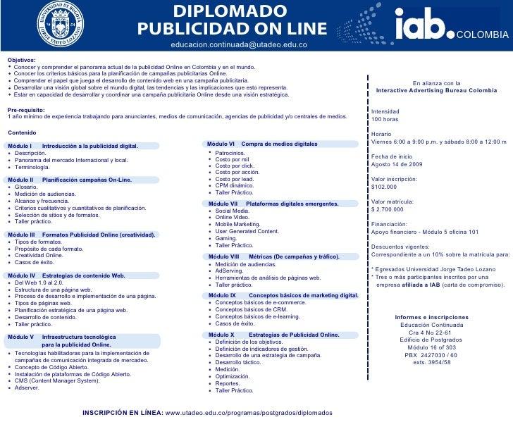 Diplomado Publicidad Online