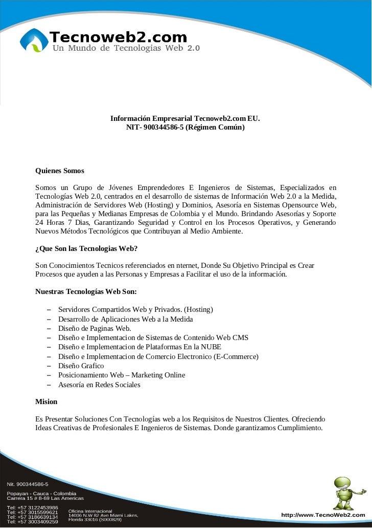 Informacion empresarial tecnoweb2