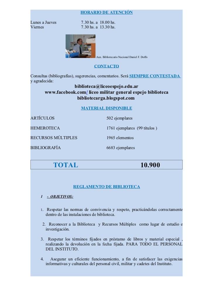 HORARIO DE ATENCIÓNLunes a Jueves                 7.30 hs. a 18.00 hs.Viernes                        7.30 hs. a 13.30 hs. ...