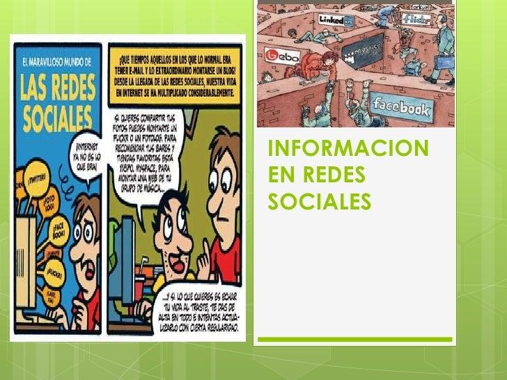 INFORMACION EN REDES SOCIALES<br />