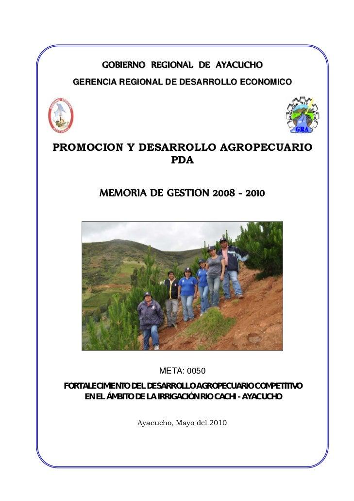 FORTALECIMIENTO DEL DESARROLLO AGROPECUARIO COMPETITIVO EN EL ÁMBITO DE LA IRRIGACIÓN RIO CACHI - AYACUCHO
