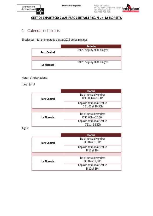 Informaci piscines sant cugat 2015 - Piscines sant cugat ...