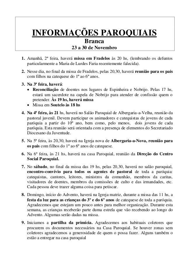 Informa Es Paroquiais 3