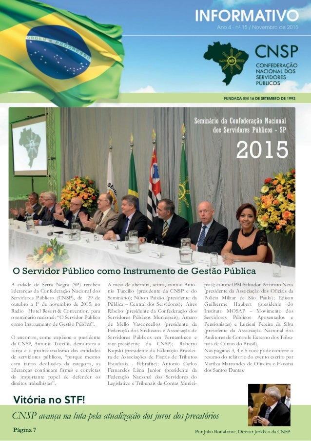 """SEMINÁRIO DA CNSP """"O SERVIDOR PÚBLICO COMO INSTRUMENTO DE GESTÃO PÚBLICA"""" O Servidor Público como Instrumento de Gestão Pú..."""