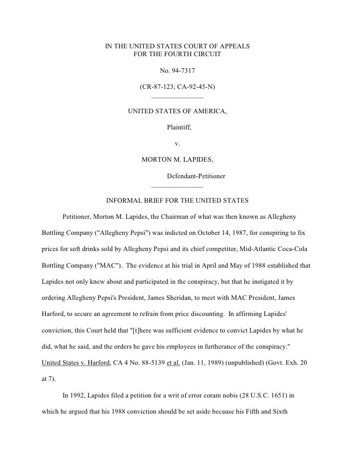 IN THE UNITED STATES COURT OF APPEALS                                FOR THE FOURTH CIRCUIT                               ...