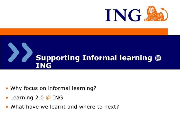 Informal Learning At ING
