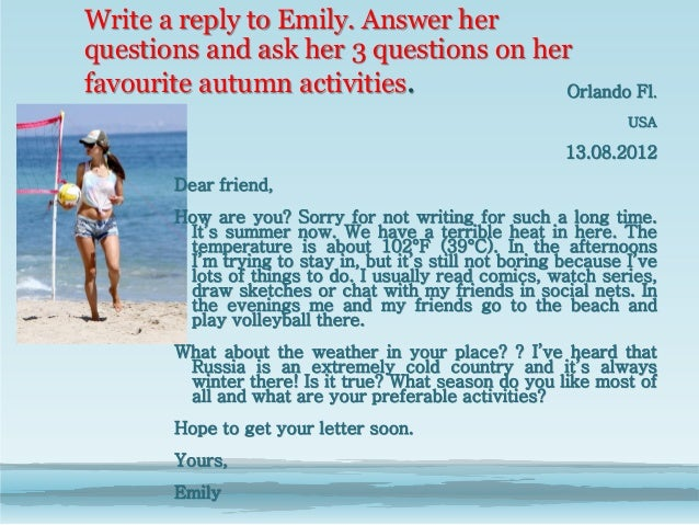 Friendship Letters Examples Informal letter to a friend