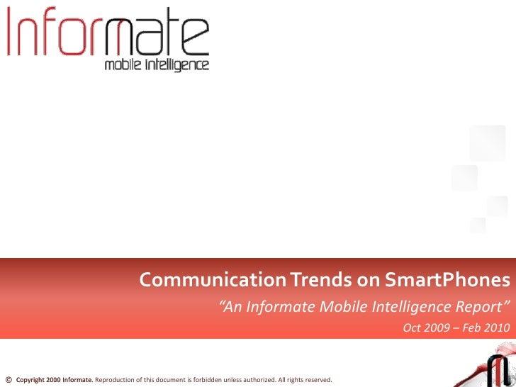 Informate report - Communication Trends for SmartPhones in India