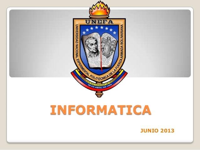 INFORMATICAJUNIO 2013