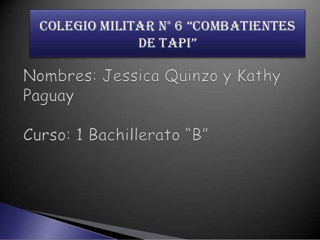 """COLEGIO MILITAR N° 6 """"COMBATIENTES DE TAPI"""""""