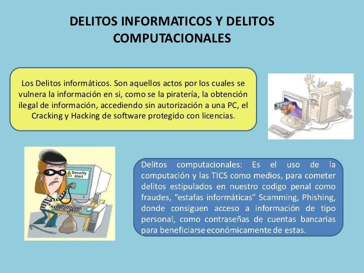 DELITOS INFORMATICOS Y DELITOS COMPUTACIONALES<br />Los Delitos informáticos. Son aquellos actos por los cuales se vulnera...