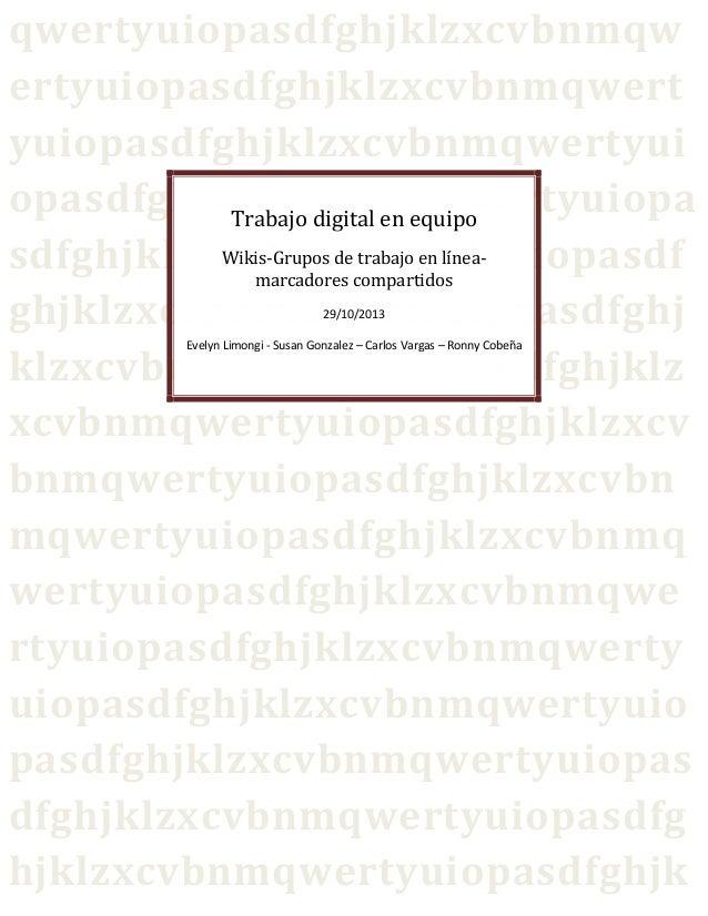 trabajo digital en equipo manual
