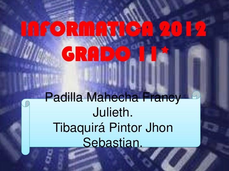 Informatica 2012.