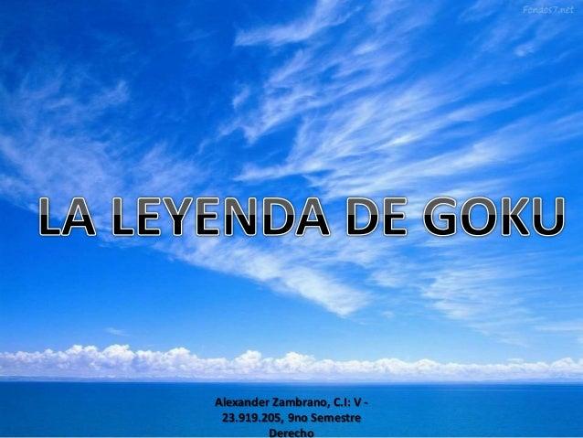Alexander Zambrano, C.I: V - 23.919.205, 9no Semestre Derecho
