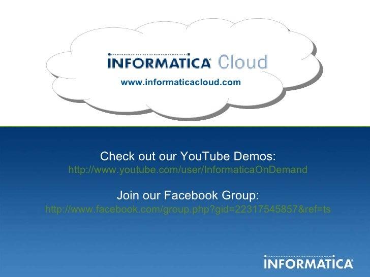 Informatica Cloud Overview