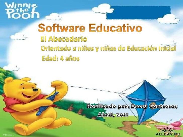 Presentacion De Software Educativa