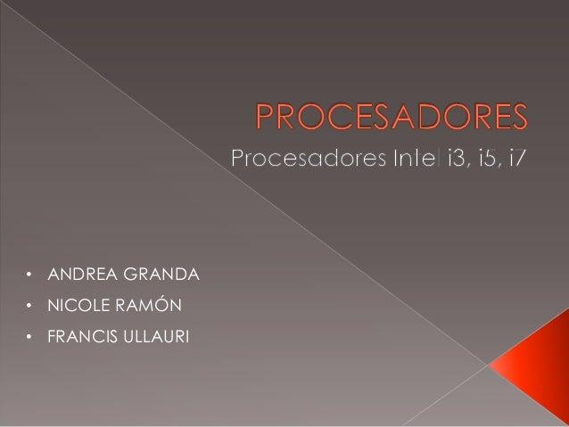 • ANDREA GRANDA • NICOLE RAMÓN • FRANCIS ULLAURI