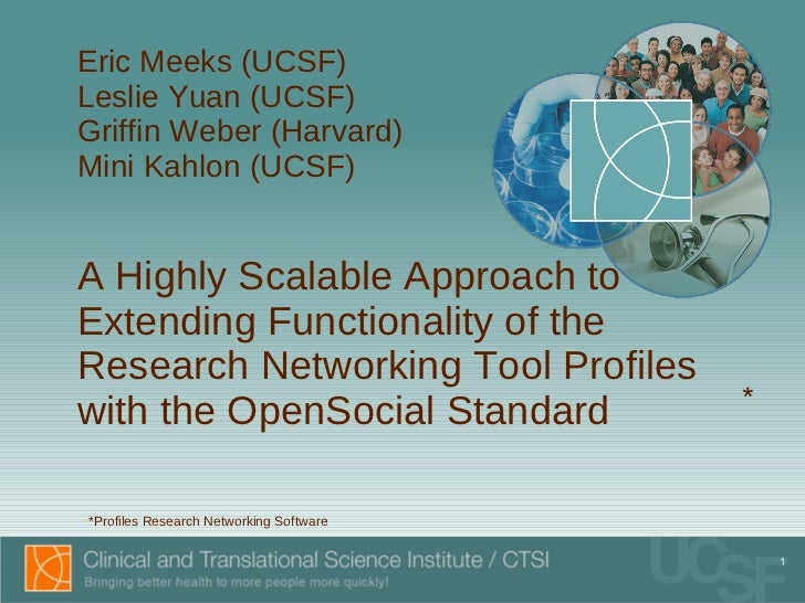 A Highly Scalable Approach to Extending Functionality of the Research Networking Tool Profiles with the OpenSocial Standard
