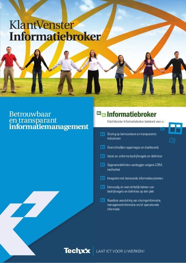 Informatiebroker voor betrouwbare en transparante stuurinformatie