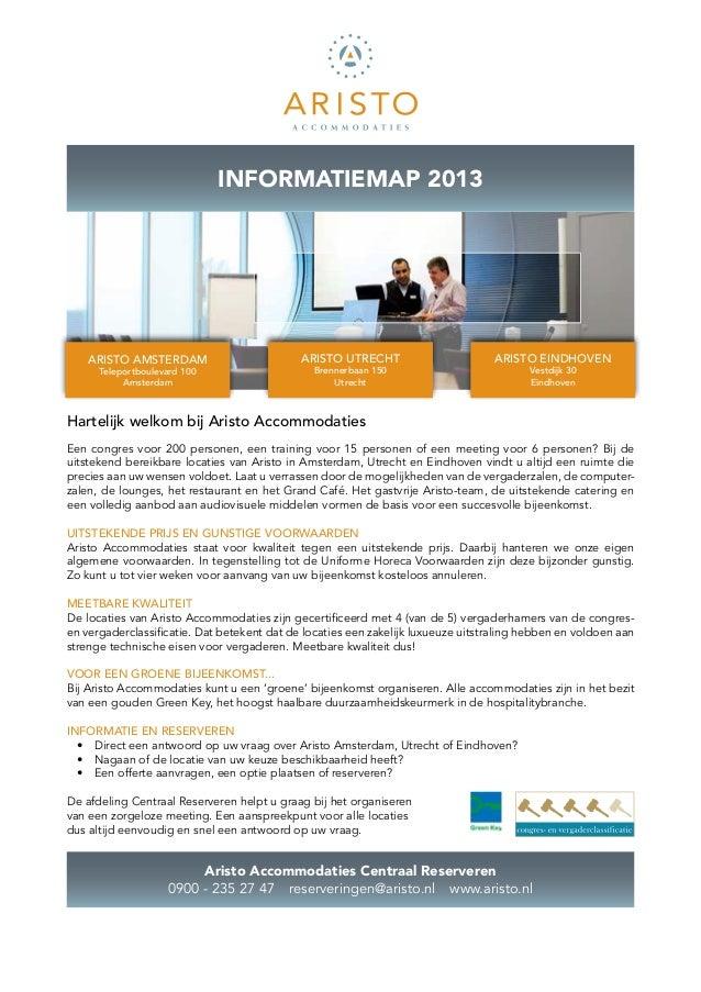 Aristo Accommodaties Informatiemap 2013