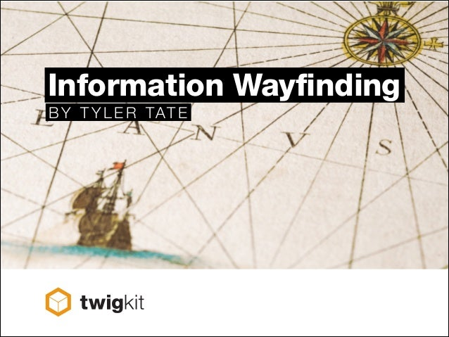 Information Wayfinding BY TYLE R TATE